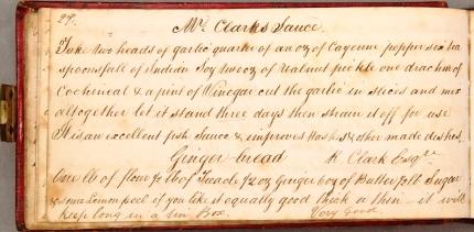 MISCMSS1771 caroline peirces recipe book 1848