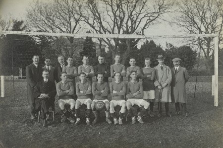 The hospital football team during the 1919-1920 season. Copyright Helsby of Denbigh