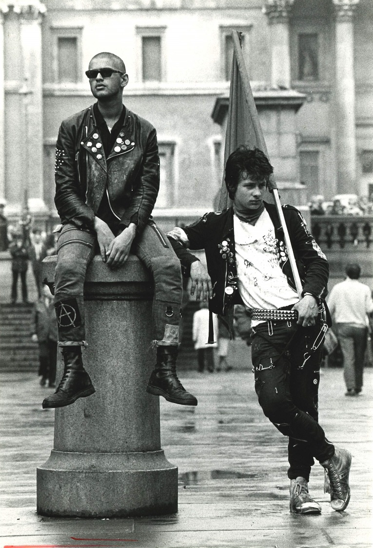 Unemployed youths, Right to Work march, Trafalgar Square, 1981 Copyright Adrianne Jones. Courtesy of Richard Burton Archives, Swanse
